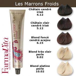 Coloration cheveux FarmaVita - Tons Marron Froids Châtain cendré irisé 4.12 (Cosmetics United Boutique, neuf)