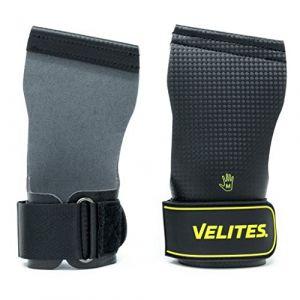 Velites Gants maniques pour Athlètes Professionnels de pour Crossfit ou Entraînements de Haute Intensité Hand Grips Crossfit   Gants Maniques Quad Carbon pour Athlètes Hommes et Femmes (M) (Velites Sport, neuf)