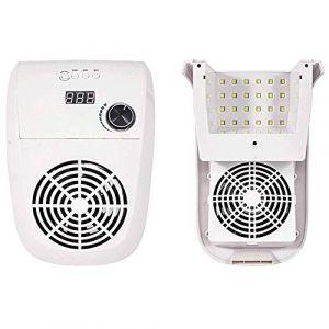 LED Lampe UV Nail collecteur de poussière sous vide de collecte de poussière, 2 à 1 Équipement Nail Art avec des ventilateurs à ongles, manucure Professional Nail Dryer W/horloge 4-Speed (Red Shore, neuf)
