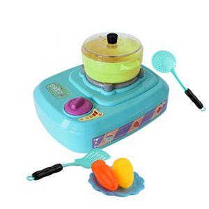 HKFV 23Pcs Mini d'outils de Cuisinière électrique Son Lumière Jouet De Cuisine Plastique Enfants Simulation Réfrigérateur avec Double Porte (Green) (HKFV, neuf)