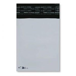 2000 Enveloppe plastique A6 C6 pochette d'expédition en plastique blanche opaque A6 120 x 170 mm 50 micron sac livraison opaque 12 x 17 cm Enveloppe envoi fine légère solide inviolable et imperméable (solutions-imprimerie, neuf)