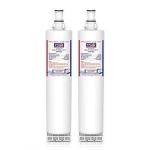 Vyair VYR-02A eau filtre réfrigérateur pour s'adapter à Whirlpool 4396508, 4396508P, 4392857, SBS001, SBS005, S20BRS, 481281729632, 481281728986, 481281718406, 04609902000, EDR5RXD1, USC009 (2) (Vyair (UK) Limited, neuf)