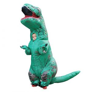 Costume De Dinosaure D'halloween Costume De Performance Gonflable Pour Enfants Tyrannosaurus,Green (dianpuwangyongan, neuf)