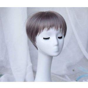 Perruque, perruques de dentelle de cheveux synthétiques sans danger pour le chocolat de couleur chocolat, espace de séparation décent, dentelle transparente pour cuir chevelu blanc ou pâle (CanMaoWu, neuf)