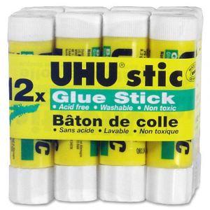Lot de 12 bâtons de colle blanche UHU de 8,2 gr (OMGHOWCHEAP, neuf)