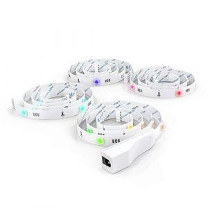 B.K.Licht Ruban LED TV, 2M, auto-adhésif, 16 Couleurs, avec câble USB, LED Strip Pour Télé avec Télécommande, Pour téléviseur de 40 à 60 pouces, rétroéclairage TV, effets lumineux (B.K.Licht, neuf)