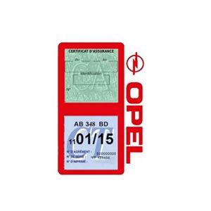 Générique Étui Double Assurance Opel Rouge Porte Vignette adhésif Voiture Stickers Auto Retro (Stickers-auto-retro, neuf)
