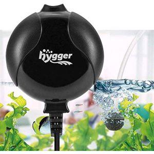 hygger 1.5W Mini Pompe Air pour 1L-50L Aquarium, Silencieux Pompe Oxygene Externe avec Accessoire (Noir) (eumagob, neuf)