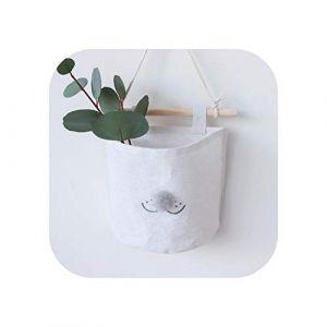 Organisateur de maquillage Vanity |Dessin animé suspendu sac de rangement coton lin armoire suspendre sac pochette murale cosmétique jouet organisateur ménage multifonction stockage (ushan75719, neuf)