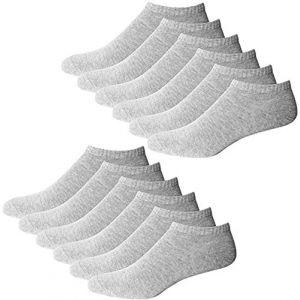 YouShow Chaussettes de Basket Hommes Femmes 10 Paires Chaussettes mi Chaussettes Courtes Coton Unisexe OEKO-TEX Standard 100(Gris,47-50 EU) (YOUSHOW, neuf)
