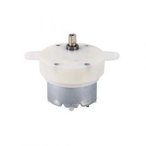 FTVOGUE 12v Moteur à Courant Continu à Couple Élevé Arbre Micro Moteur Électrique à Faible Vitesse pour Petits Présentoir (Astyer-K, neuf)