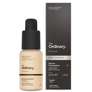 The Ordinary Serum Foundation 30ml Lightweight Pigment Suspension System with Moderate Coverage (2.0P Light Medium Pink Undertones) (LG solutions, neuf)