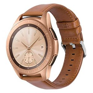 iBazal Bracelet Gear S2 Classic/Gear Sport Cuir 20mm Bandes Straps Compatible avec Samsung Galaxy Watch 42mm/Active 40mm Bands Remplacement pour Huawei 2,Ticwatch 2/E,Vívoactive 3/Vívomove HR - Marron (ibazal, neuf)