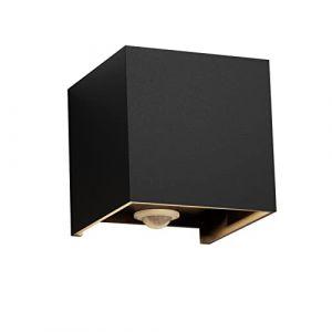 Klighten Applique à LED avec détecteur de mouvement, 12W blanc chaud, éclairage mural extérieur / intérieur pour jardin, allée, éclairage extérieur, noir (Vovoye, neuf)