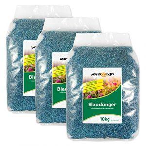 Versando Engrais pour gazon et pelouse ou engrais bleu ou chaux pour jardin - différentes tailles pour jardinage 30 kg (versando - livraison rapide avec DPD, neuf)