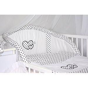 Baby's Comfort Parure de lit bébé ENSEMBLE DE 6 PIÈCES DE LITERIE CHOIX COULEURS HEARTS (s'adapte lit 120x60 cm, 10) (Baby's Comfort, neuf)