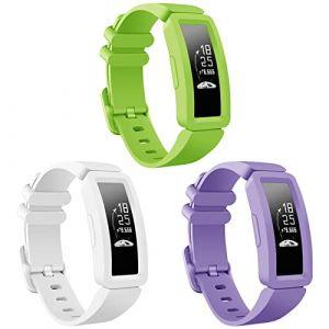 Onedream Compatible pour Fitbit Ace 2 Bracelet, Ace 2 Classique Réglable Rechange Sport Accessoire Bande Compatible avec Fitbit Inspire HR pour Enfant (CHENZHILIN, neuf)
