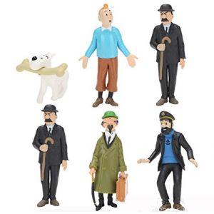EASTVAPS Aventures de Tintin PVC Figurines 6 Jouets Modèle 7cm (timeshow, neuf)