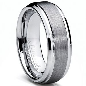 Ultimate Metals Co. 7MM Bague Alliance Tungstene Pour Homme Taille 56 (Ultimate Metals Co., neuf)