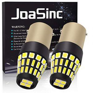 JoaSinc 2x 1156 BA15S LED Ampoules P21W LED Blanc 12V Feu Stop Feux de Jour Feux Arrière Voiture DRL Feu Recul Frein Lampe 6000K 30 SMD 4014 & 16SMD 3030 (PinZeEU, neuf)