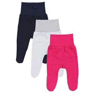 TupTam Pantalon avec Pied pour Bébé Fille Lot de 3, Mix de Couleurs 1, 12-18 Mois (86cm) (LotteStyle, neuf)