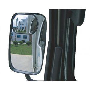 Meipro Miroir à vue Aveugle à Cames, Miroir à Miroir à Miroir Avec Miroir Convexe à Grand Angle Convex en HD Pour Tout Camion et Fourre-tout en Forme de Bus (Paquet 2pcs). (Meiproauto, neuf)