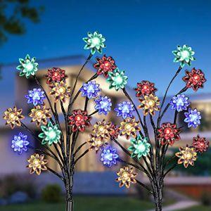 Lumière Solaire Extérieur Jardin, KagoLing Imperméable Décorative Solaire Exterieure Paysage Lampe LED Lumières pour Jardin,Terrasse, Cour, Sentier,Décoration de Vacances (Kago-EU, neuf)