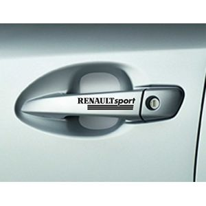 6x colle Stickers autocollants Renault Sport Poignées de porte de qualité supérieure pour Megane (Stukk, neuf)