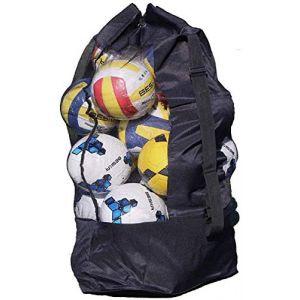 Sac à Ballon Filet de Ballon Sac en Maille pour Boule Grande Capacité de 15-20 Ballons Sac de Transport pour Basket-ball Football Volley-ball Sac Bandoulière Rangement des équipements de Sport Plage (RUIXIAMUK, neuf)