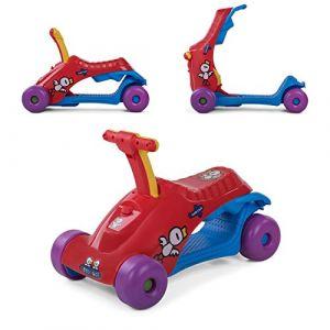 Baby Vivo Scooter Trotteur Pour Bébé Porteur 2en1 Marchettes Enfant Voiture Enfants Multifonctionnel - Rouge (MA-Trading, neuf)