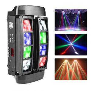 Lumière mobile de faisceau mené, lumière d'araignée de faisceau de 8x3W RGBW LED, utilisation pour la disco, salle de bal, KTV, barre, club, partie, mariage (WecanLight, neuf)