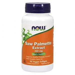 Saw Palmetto Extrait, Santé des hommes, 320 mg, 90 Veggie Softgels - Now Foods (LE DUTY FREE, neuf)