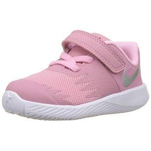 Nike Star Runner (TDV), Sneakers Basses bébé Fille, Multicolore (Elemental Metallic Silver-Pink 601), 22 EU (Calzature Signoriello, neuf)