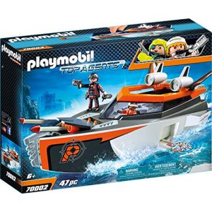 Playmobil 70002 Top Agents Spy Team Turboship Multicolore (Tradomi, neuf)