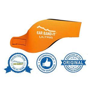 Ear Band-It Natation Bandeau (retenir l' Eau, maintenez Bouchons Oreilles) recommandé par Le médecin et Protection Contre l' Eau Les Petits (1-3 Ans) Orange (audilo, neuf)