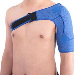 Attelle d'épaule pour femme JJ. Accessoire d'épaule amélioré protecteur d'épaule respirant perforé sous pression Grande taille (39-55 pouces) (JJ. Accessory, neuf)