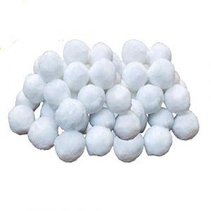 KATELUO 700g Boules de Filtre de Piscine, Balles Filtrantes,Média Filtre à Fibres pour Piscine Filtres à Sable Filtrage de l'eau. (Blanc) (kateluo, neuf)