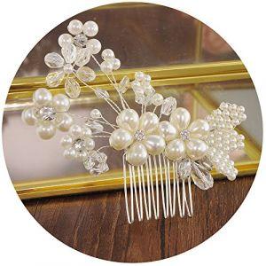 topq ueen Cheveux Aiguilles pour femmes de mariage accessoires cheveux Clip cheveux mariage mariée Bijoux de tête de mariage accessoires Haarschmuck Mariage Perles (topqueen, neuf)