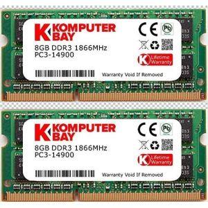 Komputerbay 16 Go Dual Channel Kit 2x DDR3-1866 8Go 204pin SO-DIMM 1,866 / 14900S (1866MHz, CL13) pour Apple iMac 275K (Late 2015) (KOMPUTERBAY-FR, neuf)