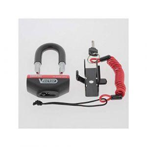 Vector Antivol Moto bloque disque MINIMAX+ Ø16mm/47x40mm - Classe SRA - Type U - Avec cordon de rappel (Mr 2 Roues, neuf)