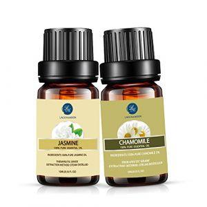 Lot Huile Essentielle Aromathérapie Lagunamoon, 2pcs Huile Pure et Naturelle pour dormir, sauna, spa, diffusion, bain 10ml (Rose&Ylang Ylang) (GzXiangji, neuf)