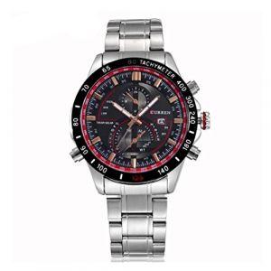 CURREN Montres Homme luxe en acier inoxydable Sports Date Quartz Mens Wrist Watch (FYLove, neuf)