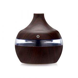 Lofenlli Diffuseur d'aromathérapie d'huile essentielle d'huile de grain en bois de charge USB Humidificateur d'air purifier apaisant la veilleuse de nuit de fabricant de brume (Lofenlli, neuf)
