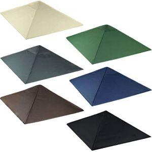 freigarten.de Toit de Rechange pour tonnelle de 3 x 3 m - Sable Antique - Imperméable - Matériau : Panama en PVC, Souple, 370g/m², Ultra résistant, modèle3 (Vert) (siluk_24, neuf)