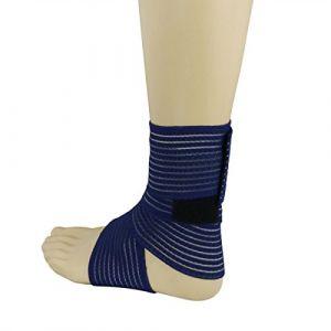 Tendinite Talon d'Achille Gonflé Inflammation - Bande Cheville Strapping Chevillère - Douleurs et Blessure Rupture (Bande élastique BLEU) (Elastrap, neuf)
