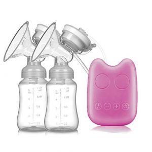 Améliorer Tire-lait électrique Double, Silencieux Pompe d'allaitement Sans BPA,Pink (SMS ShangHang, neuf)