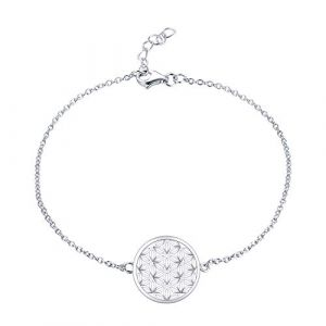 JO WISDOM bracelet fleur de vie argent 925 femme (couleur or blanc) (JO WISDOM, neuf)
