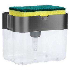 Ensemble de Distributeur de Savon Liquide avec Support D'éponge de Nettoyage 13 Onces Pompe à Main Pousser L'organisateur D'évier (Yolispa, neuf)