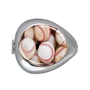 Pilulier ovale tendance pour entraînement de baseball, boîte à médicaments, boîte à médicaments, boîte à pilules, organiseur de pilules pour sac à main (UBIBIART, neuf)