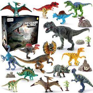 BeebeeRun Dinosaure Jouet 21pcs Plastique Dinosaure Chiffres Educatif Jouets pour Enfants Dinosaure Modèle Ensemble Cadeaux de Noël (Ealinggo, neuf)